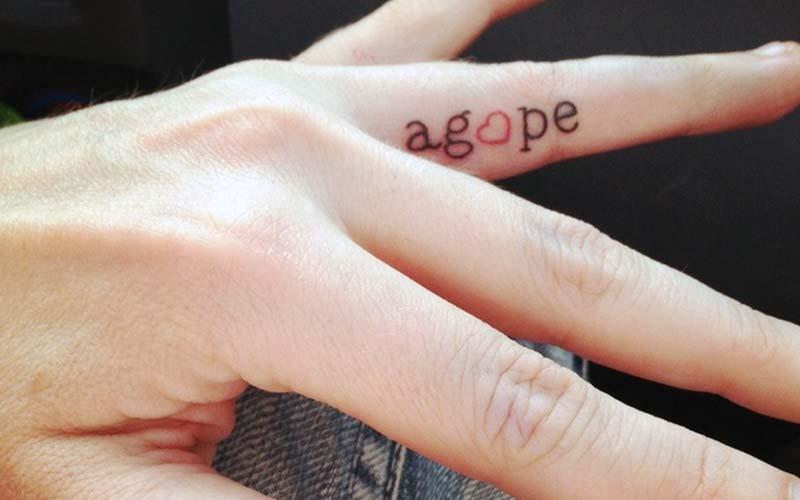 Inside Finger Tattoo